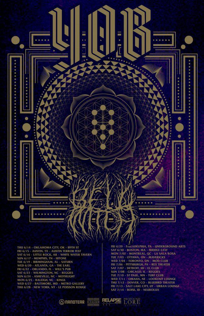 YOB admat e1520443631267 662x1024 - [:ja]米オレゴンのスラッジ/ドゥームYOBが8thアルバム'Our Raw Heart'を6月8日にリリース[:]